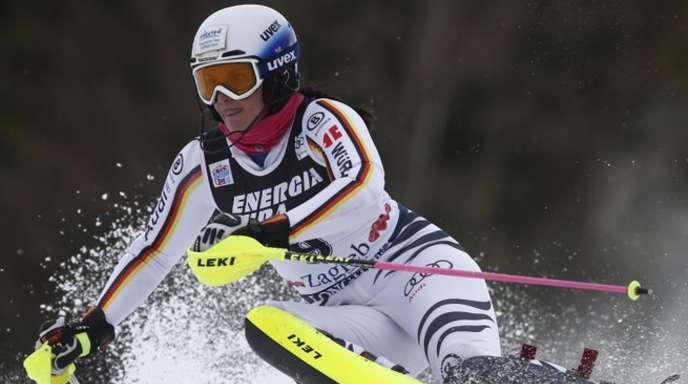 Christina Geiger war nach dem ersten Durchgang noch die beste deutsche Slalomfahrerin.