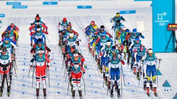Die ersten Medaillen in Pyeongchang wurden im Skiathlon der Damen vergeben.