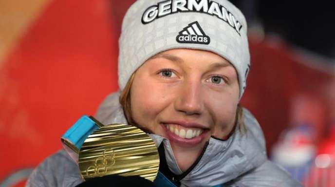 Olympiasiegerin Laura Dahlmeier hat