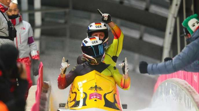 Pilot Francesco Friedrich und Anschieber Thorsten Margis gewannen Olympia-Gold im Zweierbob.