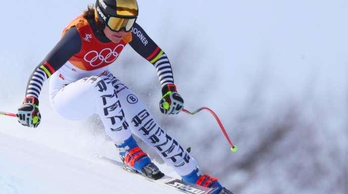Viktoria Rebensburg landete bei der Abfahrt auf Rang neun.
