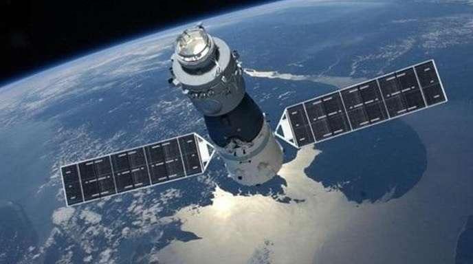 Eine undatierte Grafik der chinesischen Raumstation «Tiangong 1».