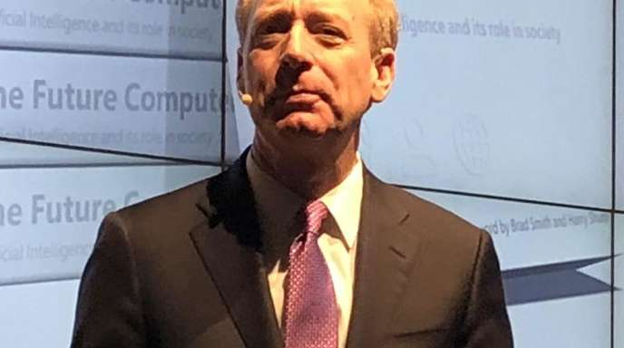 Der Chefjustiziar vom Software- und Hardwarehersteller Microsoft, Brad Smith.