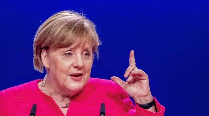 Bundeskanzlerin Angela Merkel (CDU) hat das Wort ergriffen.