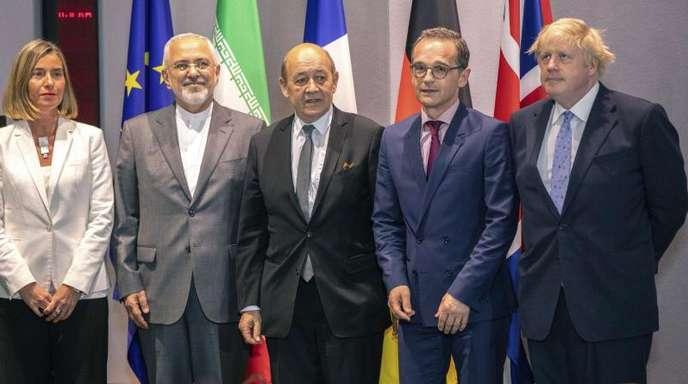 Treffen der europäischen Außenminister im Europa-Gebäude in Brüssel.