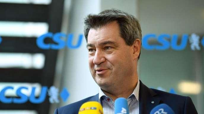 Der bayerische Ministerpräsident Markus Söder (CSU) muss um die absolute Mehrheit im Landtag fürchten.