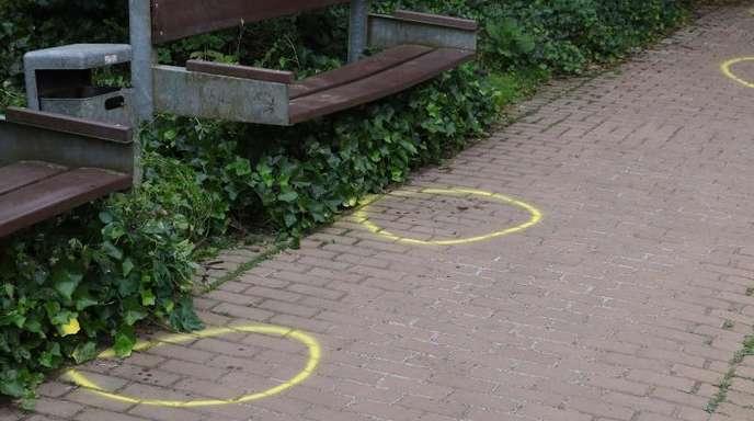 Tatort im «Casinogarten» in der Innenstadt von Viersen.