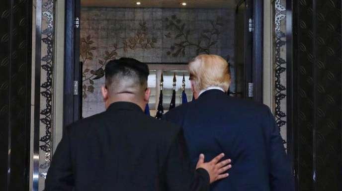 Der «senile Greis» Donald Trump und «Rocket-Man» Kim Jong Un:Aus den verfeindeten Staatschef sind Verhandlungspartner geworden.