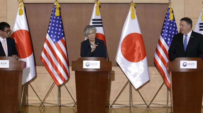 US-Außenminister Pompeo bekräftigt, dass die US-Regierung am Ziel der «vollständigen, überprüfbaren und unumkehrbaren» Denuklearisierung Nordkoreas festhält.