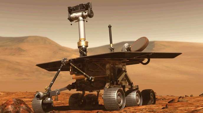 Abbildung des Mars-Rovers «Opportunity».