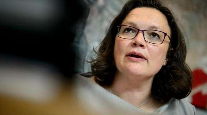 SPD-Chefin Andrea Nahles lässt derzeit die Strukturen in der Parteizentrale, dem Willy-Brandt-Haus, durchleuchten.