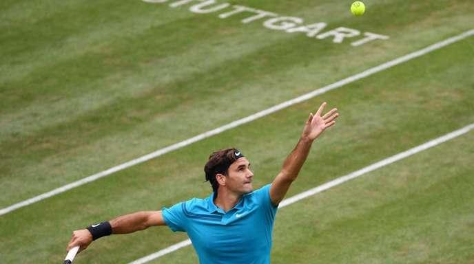 Roger Federer trifft auf Guido Pella.