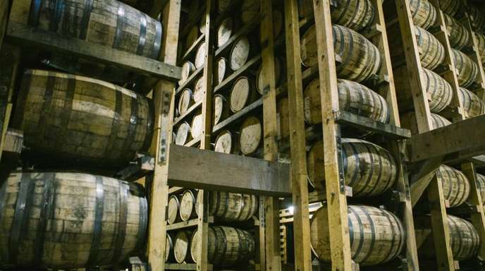 Die Brennerei von Jack Daniel's in Lynchburg: Amerikanischer Whiskey steht auch auf der Strafzoll-Liste der EU.