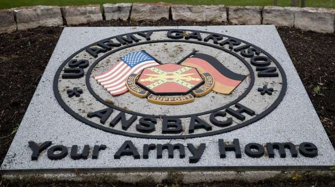 Helikopter-Stützpunkt der US-Armee bei Ansbach in Bayern.