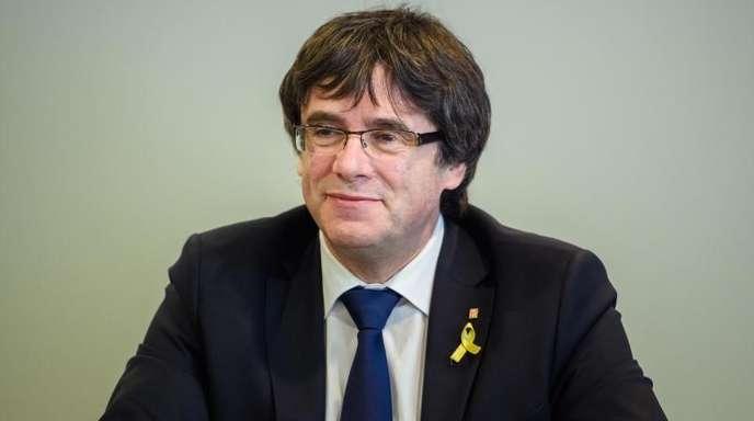 Der katalanische Separatistenführer Carles Puigdemont in Berlin.