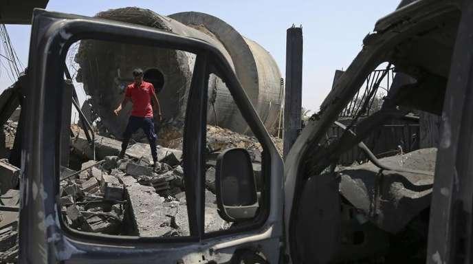 Die israelische Luftwaffe hatte Ziele der radikalislamischen Hamas angegriffen.