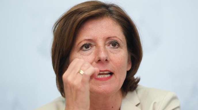 Malu Dreyer, SPD-Ministerpräsidentin von Rheinland-Pfalz, im Mai 2017 bei einer Pressekonferenz in der Staatskanzlei in Mainz.