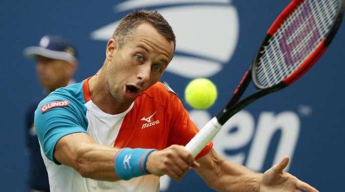 Als letzter von 16 gestarteten deutschen Tennisprofis ist Philipp Kohlschreiber bei den US Open noch dabei.