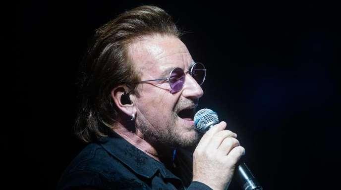 Da konnte er noch singen:Bono beim Konzert seiner Band U2 in Berlin.
