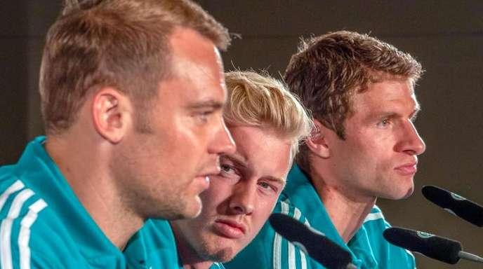 Stehen gegen Frankreich im Fokus: Manuel Neuer, Julian Brandt und Thomas Müller.