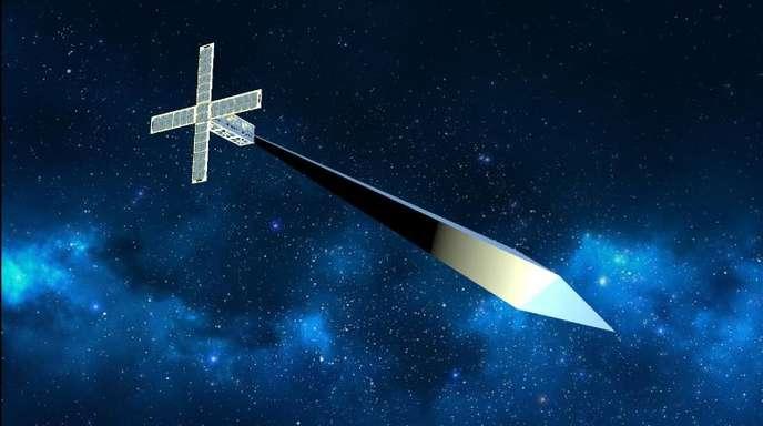 Datum unbekannt, Ort unbekannt: Das Handout des Nevada Museum of Art zeigt eine grafische Darstellung des Satelliten «Orbital Reflector».