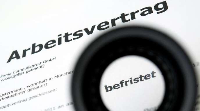 Im vergangenen Jahr gab es in Deutschland fast 3,2 Millionen befristete Verträge.