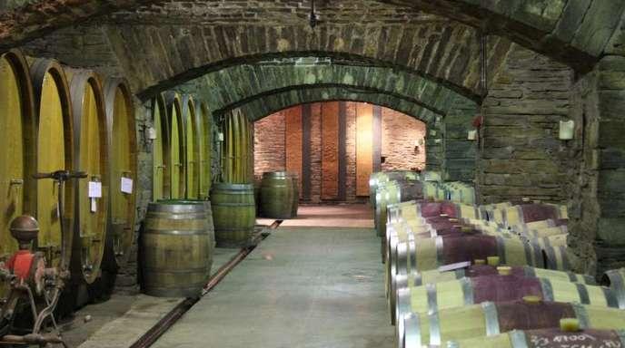 Ansicht eines Weinkellers der Winzergenossenschaft Mayschoß-Altenahr.