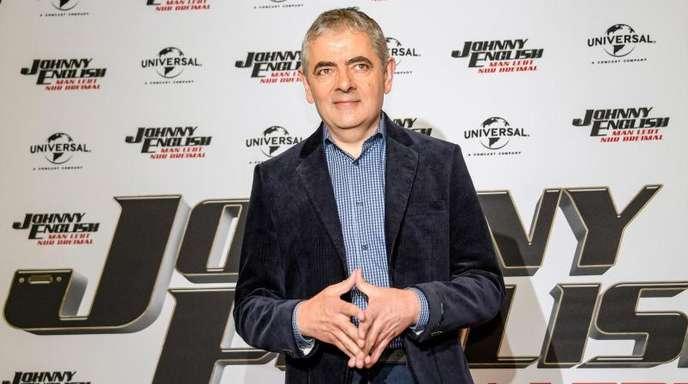 Rowan Atkinson stellt seinen Film «Johnny English - Man lebt nur dreimal» in Hamburg vor.