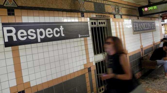 In der U-Bahnstation «Franklin Street» wird Aretha Franklin geehrt.