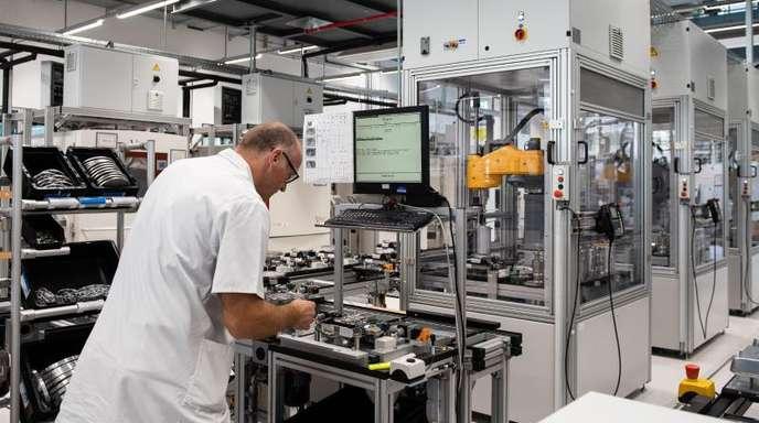 Fertigung bei der Sartorius AG in Göttingen. arbeitet. Der niedersächsische Technologiekonzern ist ein führender Pharma- und Laborzulieferer.