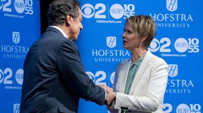 Cynthia Nixon fordert Andrew Cuomo heraus.