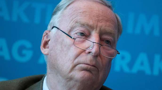 Alexander Gauland, Vorsitzender der AfD-Bundestagsfraktion, bei einer Pressekonferenz im Deutschen Bundestag.