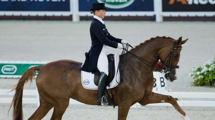 Medaillenkandidatin bei der Reit-WM in Tryon: Isabell Werth mit ihrem Pferd Bella Rose.