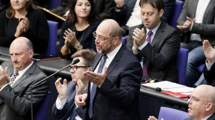 Martin Schulz, ehemaliger SPD-Parteivorsitzender, spricht bei der Generaldebatte im Deutschen Bundestag.