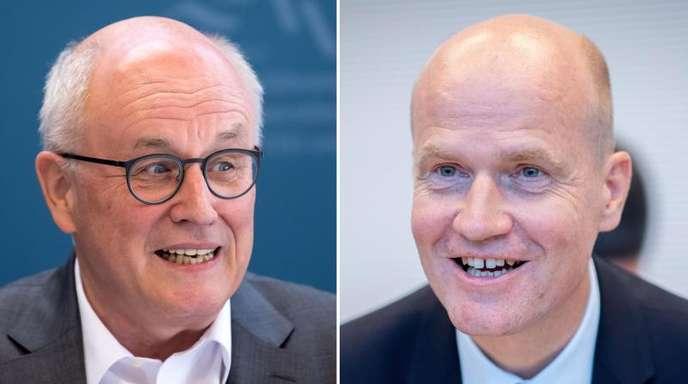 Die beiden Kontrahenten:Volker Kauder, Unions-Fraktionsvorsitzender, und Ralph Brinkhaus, CDU-Bundestagsabgeordneter und Unions-Vize-Fraktionsvorsitzender.
