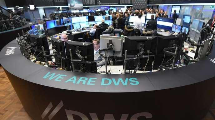 Der Börsengang der DWS 2018 an der Frankfurter Wertpapierbörse.