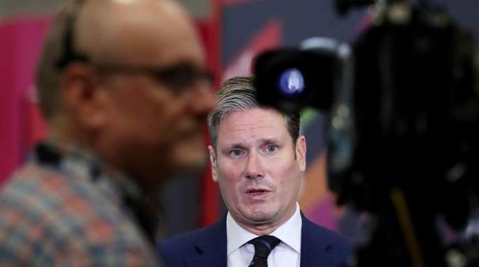 Keir Starmer, Brexit-Experte der Labour-Partei, gibt während des Labour-Parteitags ein Interview.