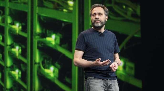 Google-Manager Urs Hölzle 2012 bei einer Veranstaltung in San Francisco.