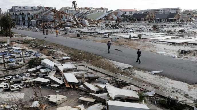 Hier standen mal Häuser. Hurrikan «Michael» hat in unter anderem in Mexiko Beach, Florida, schwerste Schäden angerichtet.