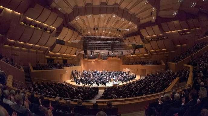 Die Münchner Philharmoniker spielen unter der Leitung von Waleri Gergijew in Münchens Philharmonie im Gasteig.