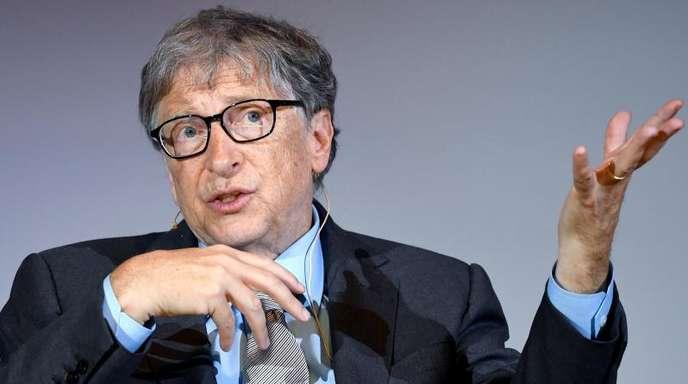 Bill Gates, Microsoft-Gründer, bei der Diskussion «Innovationspotenzial in Afrika».