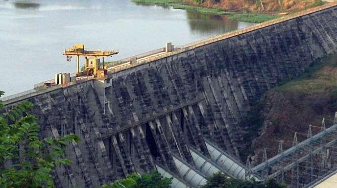 Das Wasserkraftwerk Inga I in der Nähe des Dorfes Inga im Kongo.