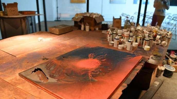Das originale Feuer-Atelier von Otto Piene ist bei einer Vorbesichtigung vor dem ZERO-Weekend zu sehen.