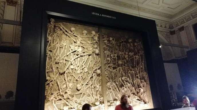 Das Massengrab von 47 Opfern der Schlacht von Lützen im Dreißigjährigen Krieg.