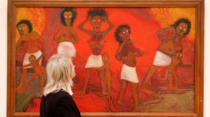Das Bild «Krise» (1967) des Nigerianers Demas Nwoko.