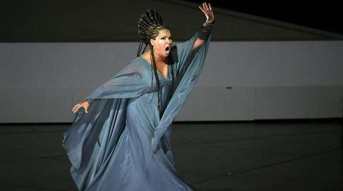 Anna Netrebko 2017 als Aida bei den Salzburger Festspielen.