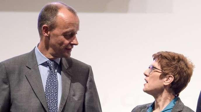 Konkurrenten um den CDU-Vorsitz: Friedrich Merz und Annegret Kramp-Karrenbauer.