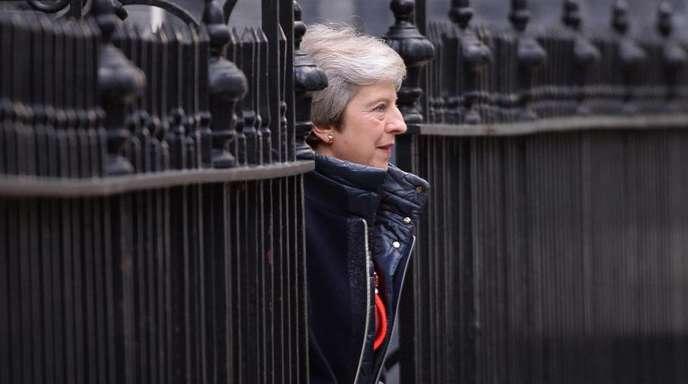 Am Ziel? Die britische Premierministerin Theresa May verlässt ihren Amtssitz in der Downing Street 10.
