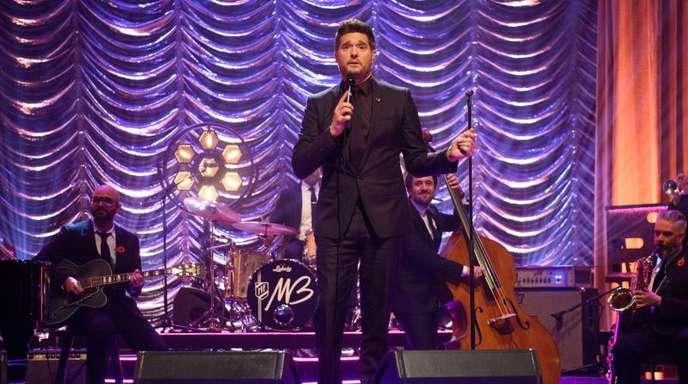 Michael Bublé bei Dreharbeiten zur Graham Norton Show.
