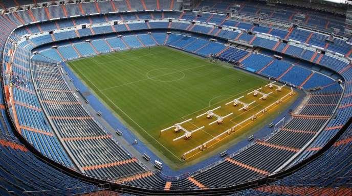 Im Bernabeu-Stadion in Madrid wird das Finale im südamerikanischen Copa Libertadores ausgetragen.